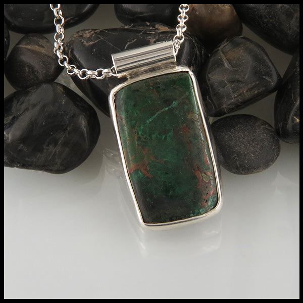 Chrysocolla set in Sterling Silver