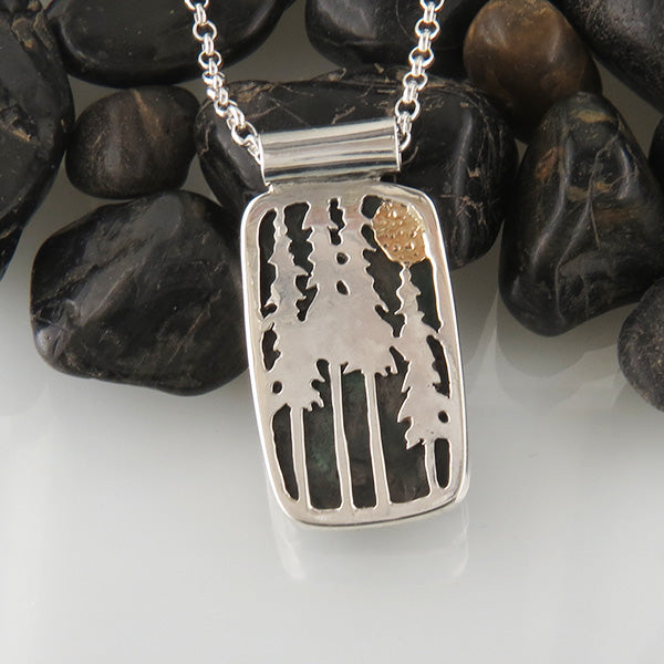 Pine Tree Pendant in Silver