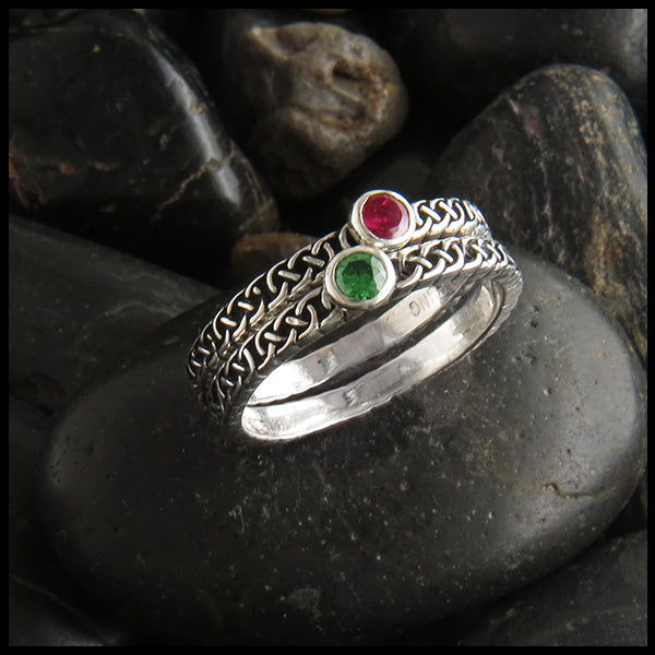 celtic knot birthstone ring