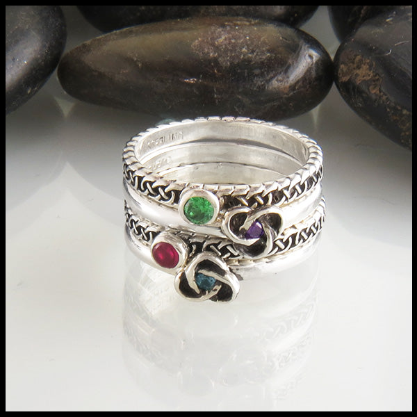 celtic birthstone rings