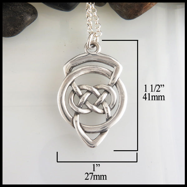 Grandfather's Celtic Knot Pendant 41mm x 27mm
