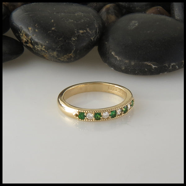 Gemstone Bands in Gold