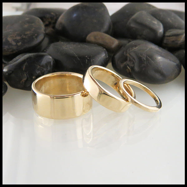 14K Gold Bands handcrafted by Walker Metalsmiths