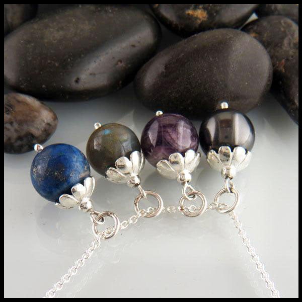 Simple Bead Pendants in Sterling Silver
