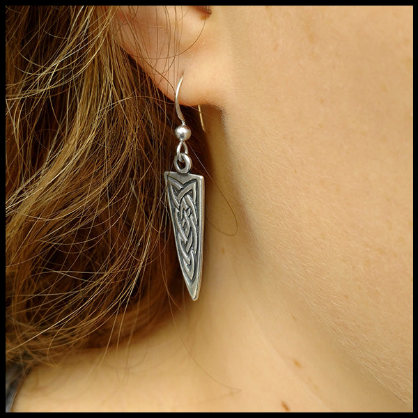 Silver Dagger earrings