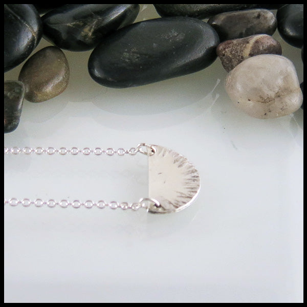 Sterling Silver Half Round Necklace