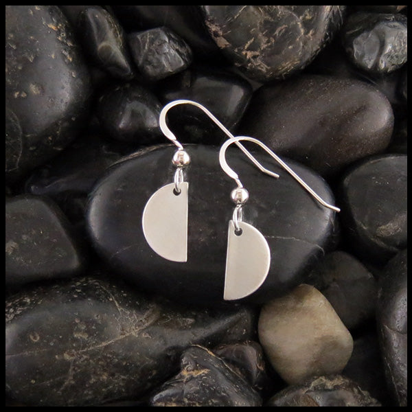 dainty silver half moon earrings