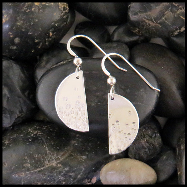 Half-moon Silver earrings