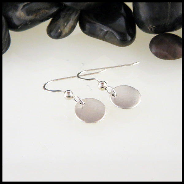 Brushed Finish Sterling Silver Earrings
