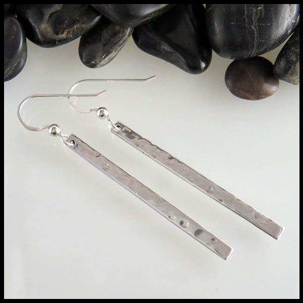 Simple Silver Bar earrings