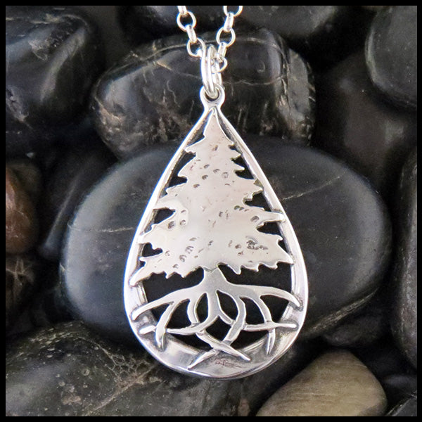 Celtic Pine Tree Necklace