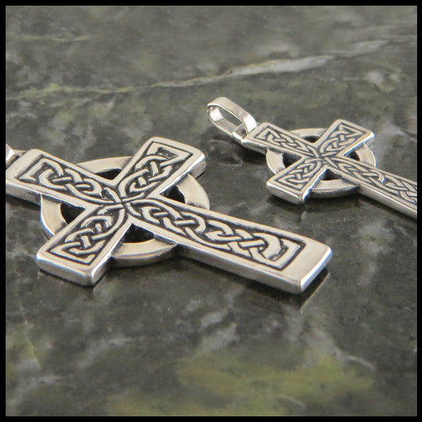 Genesis celtic cross in sterling silver walker metalsmiths celtic celtic cross sterling silver genesis celtic cross pendant traditional celtic cross in sterling silver mozeypictures
