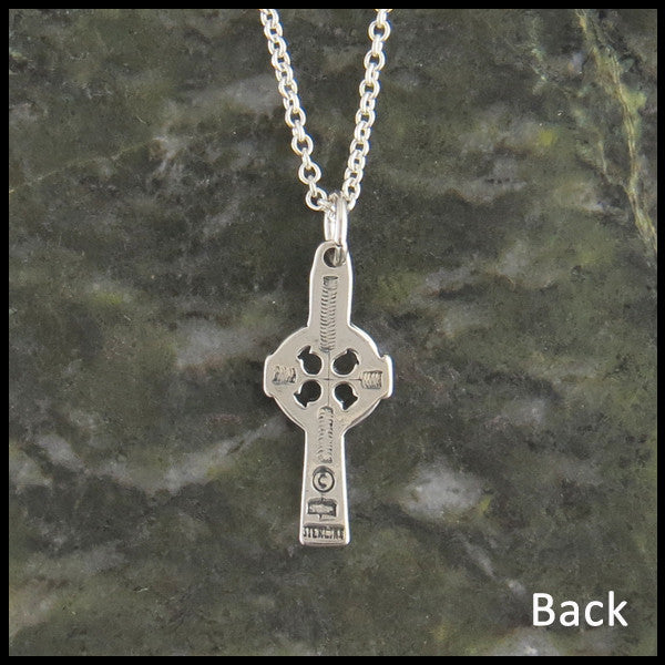Dainty Celtic Cross in Sterling Silver with Gemstones