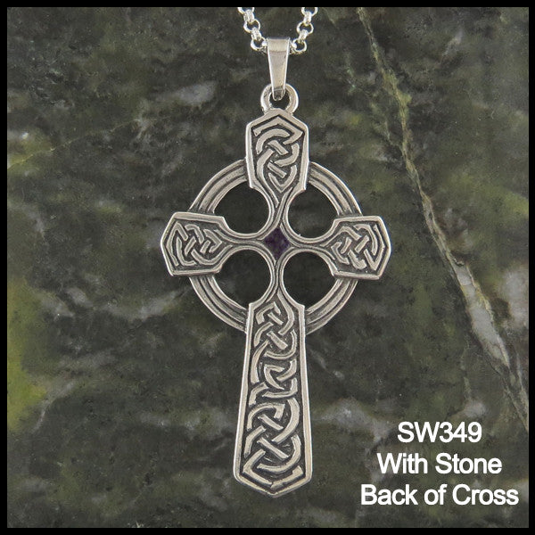 Sterling Silver Trinity Celtic Cross Pendant