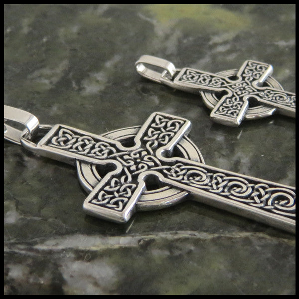 Detailed Celtic Cross in Sterling Silver from Walker Metalsmiths