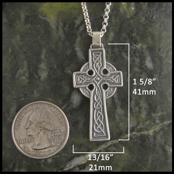 St Patrick Cross in Silver