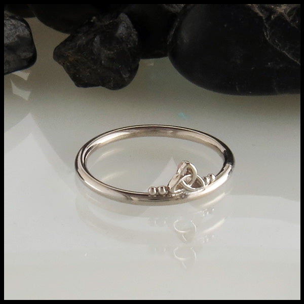 White Gold Celtic Stacking Rings
