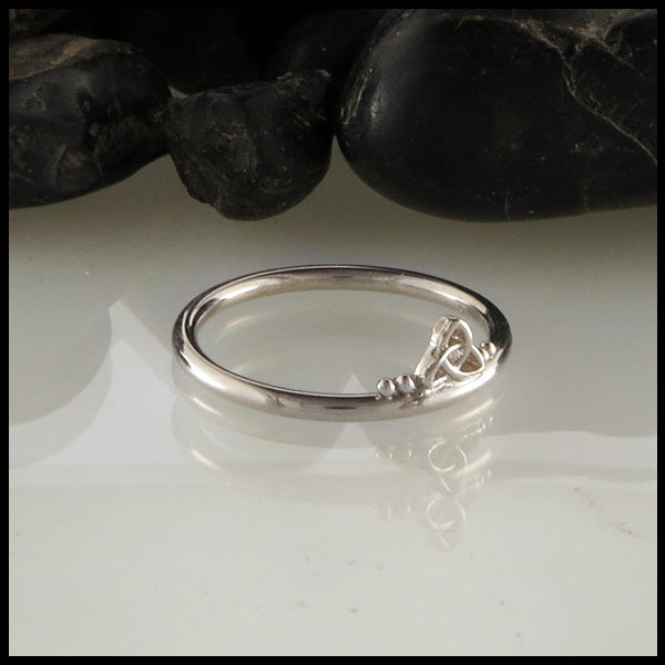 Celtic Stacking Ring in White Gold