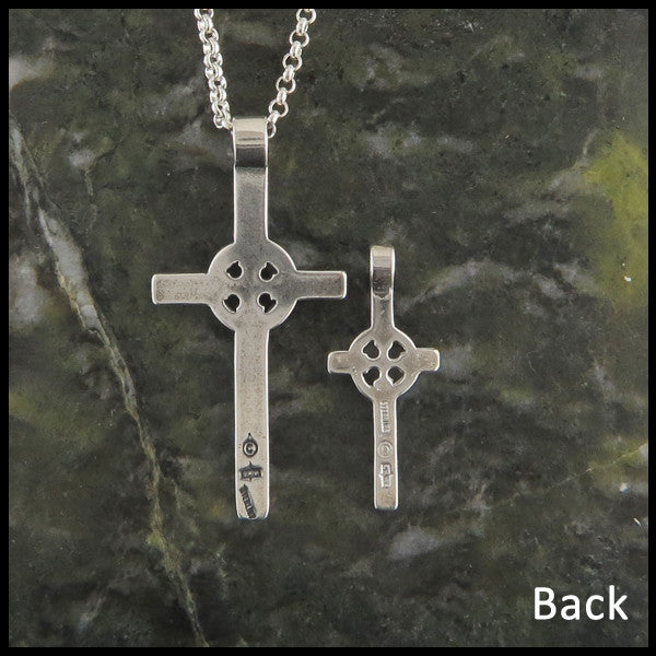 Plain Celtic Cross in Sterling Silver
