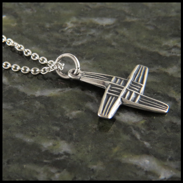 Stylized St Brigid Celtic Cross in Sterling Silver