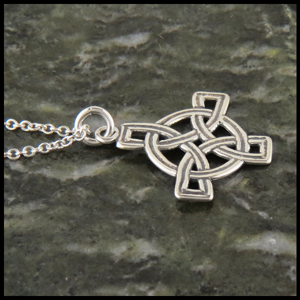 Small Unique Celtic Cross in Sterling Silver