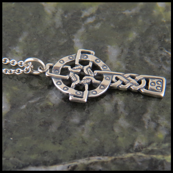 Unique Celtic Cross in Sterling Silver