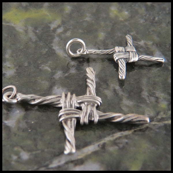 Traditional St Brigid Celtic Cross in Sterling Silver