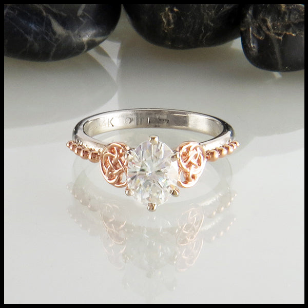 Celtic Engagement Rings Handcrafted in 14K Gold with