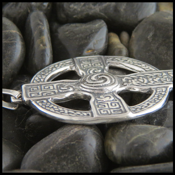 Large Celtic Cross in Sterling Silver