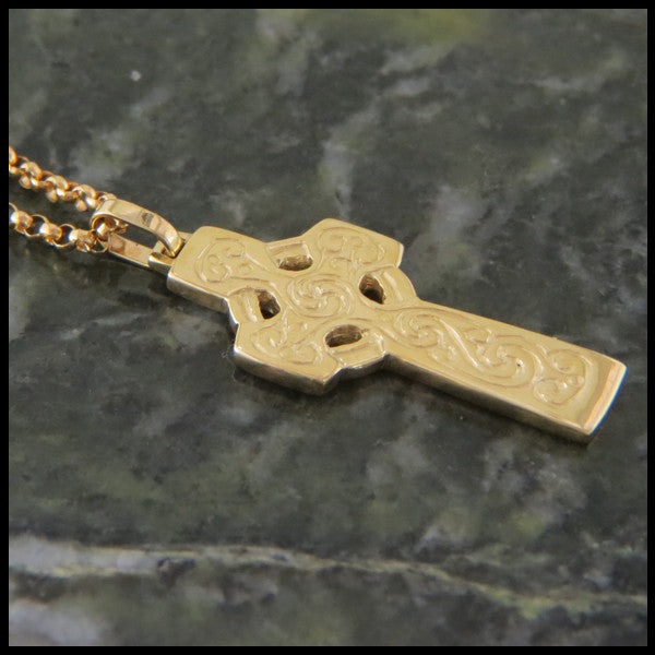 Double Sided Celtic Cross in 14K Gold