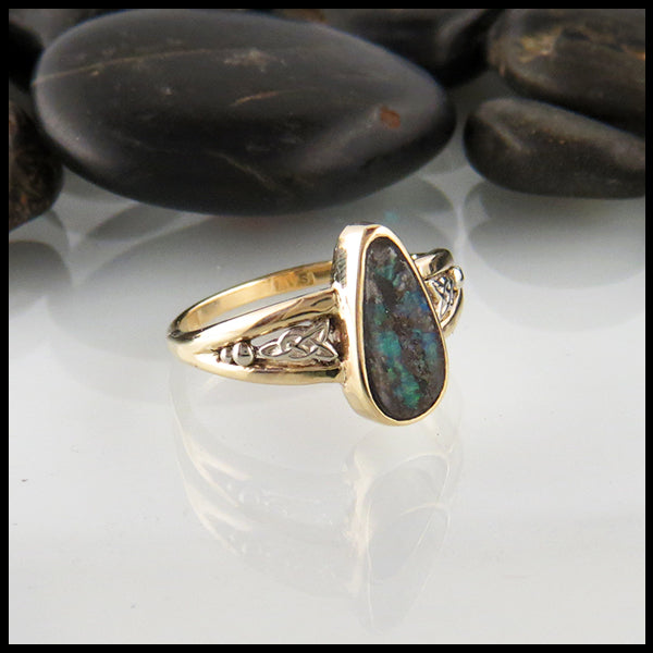 Australian Boulder Opal Ring in Gold
