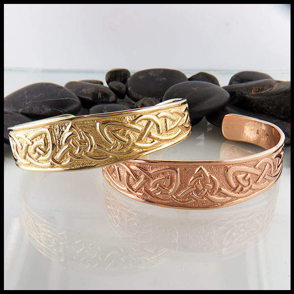 Celtic Trinity Bracelet in Rose Gold