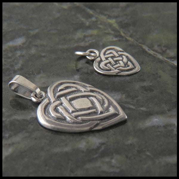 Celtic heart pendant in Sterling Silver