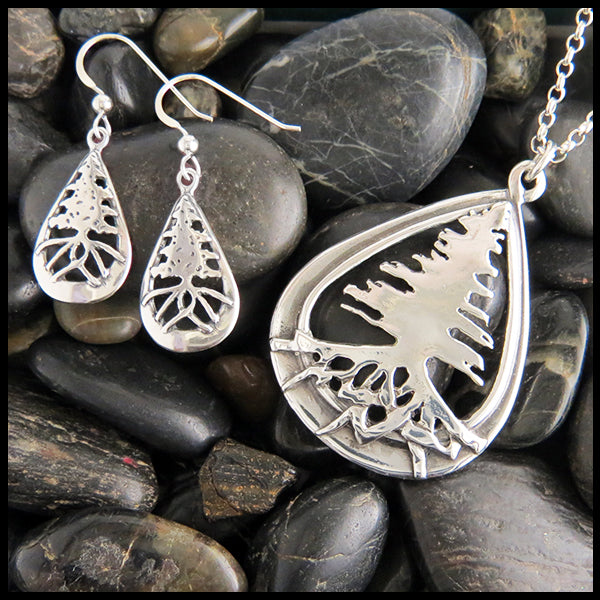 Celtic Tree Pendant and Earrings