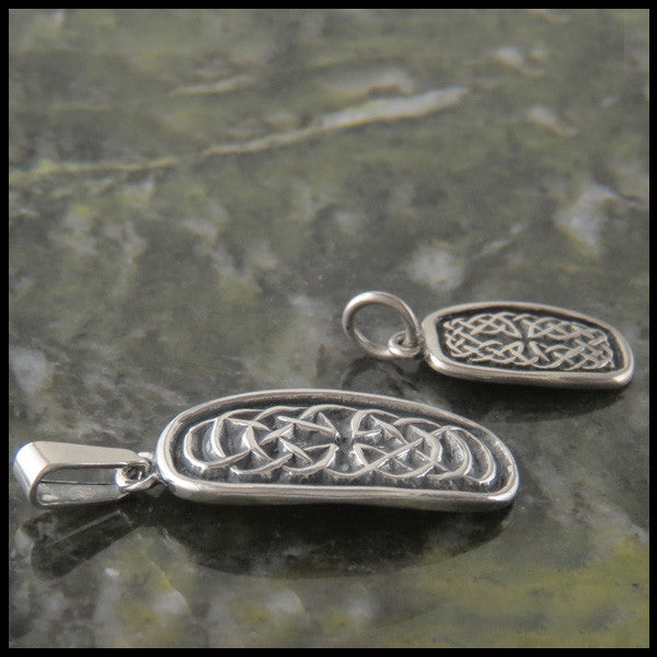 Celtic Drop Birthstone pendant in Sterling Silver