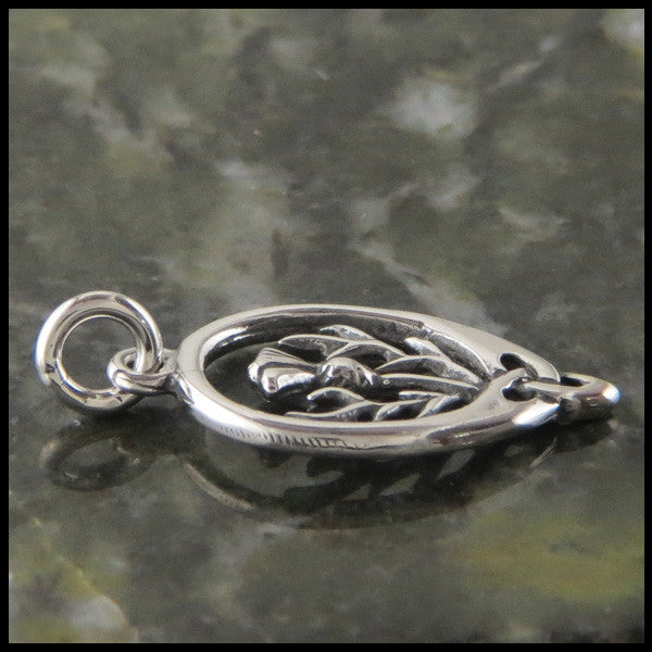 Scottish Thistle pendant in Sterling Silver