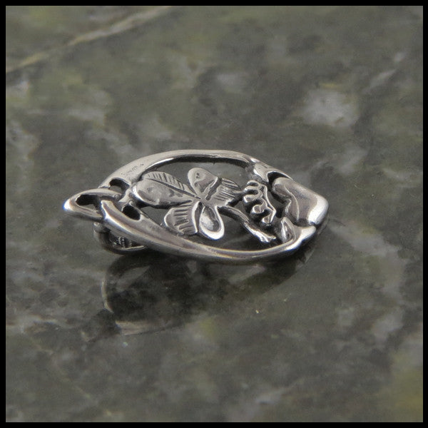 Irish Claddagh and Shamrock pendant in Sterling Silver