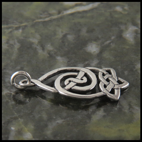 Celtic Knot pendant and earring set in Sterling Silver