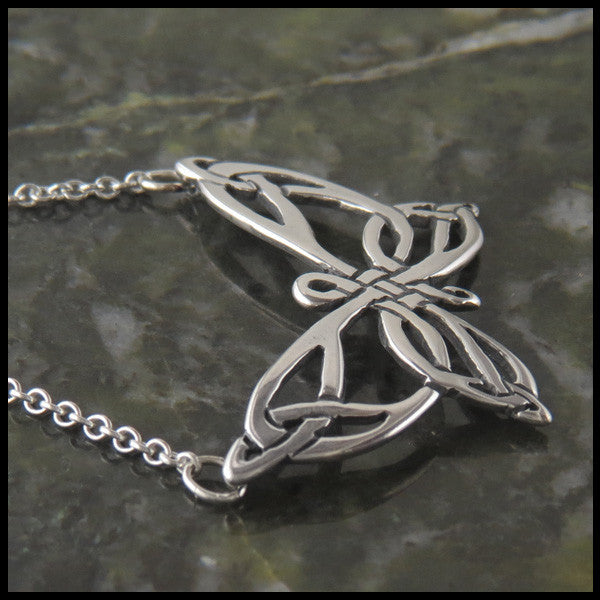 Butterfly Celtic pendant in Sterling Silver