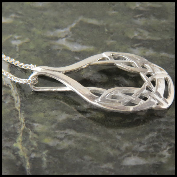 Art Nouveau Celtic Pendant in Sterling Silver