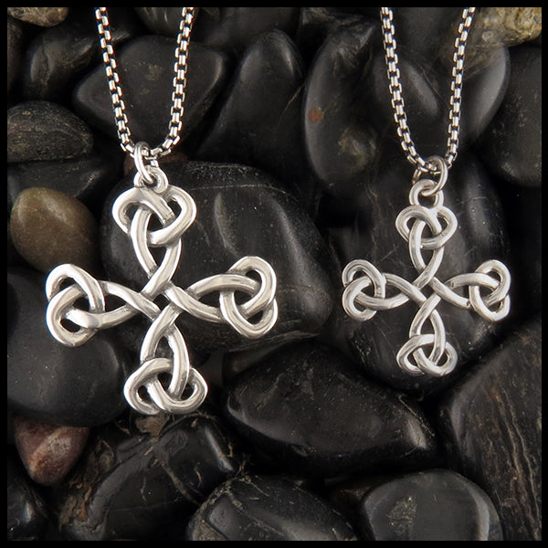 Equal Arm celtic cross necklace in sterling silver