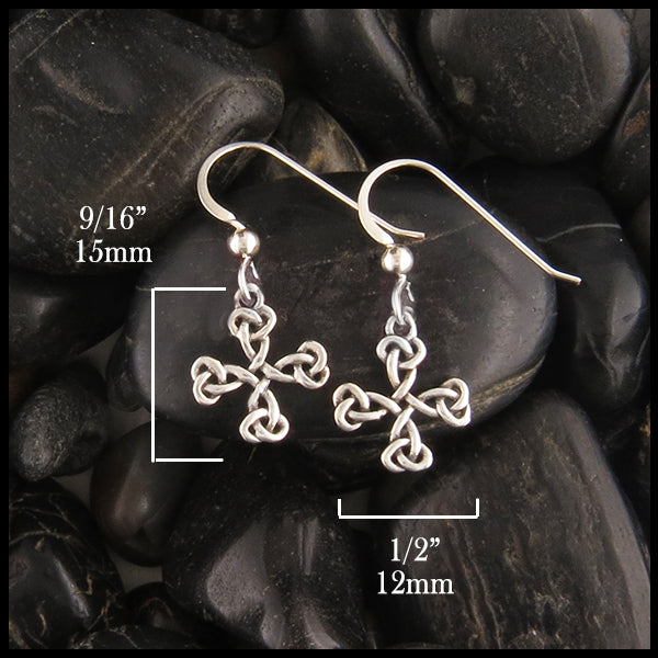 Equal Arm Cross earrings 15mm x 12mm