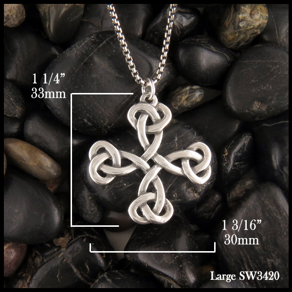 Celtic Cross 1 1/4 inch long by 1 3/16 inch wide pendant