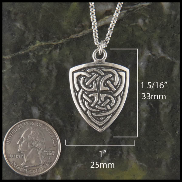 Celtic Shield necklace in Sterling Silver