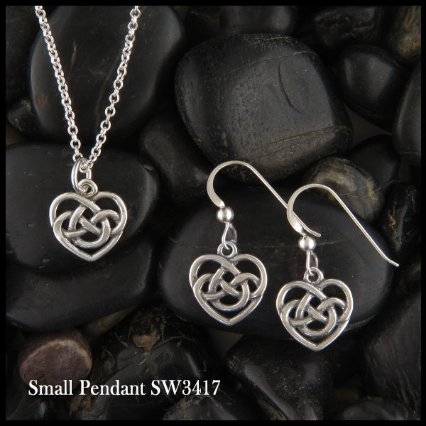 Celtic Heart pendant and earring set