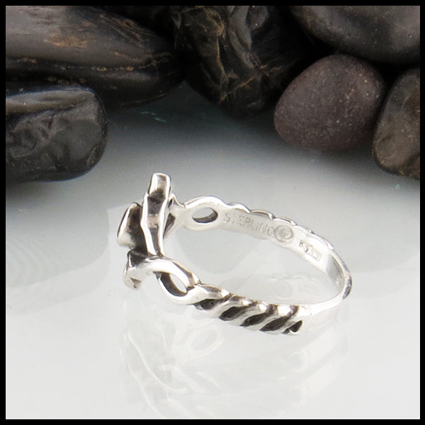 Celtic Ring with Twisted Band