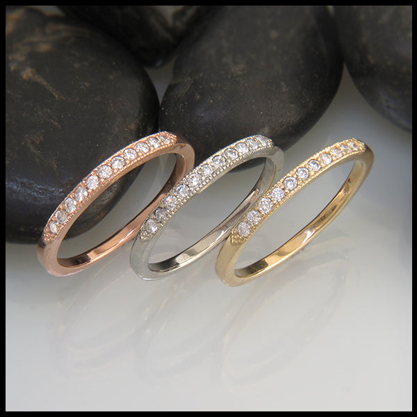 Narrow Diamond Wedding Ring