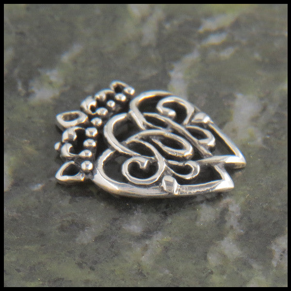 Scottish Luckenbooth Pendant or Brooch in Sterling Silver
