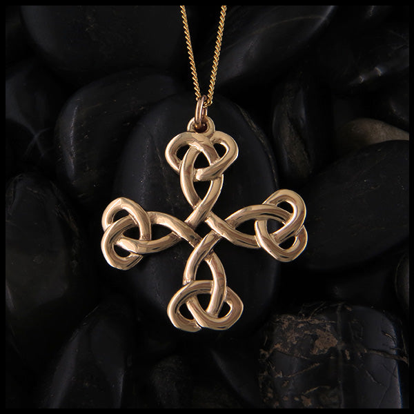 Equal Arm Celtic Cross in Gold