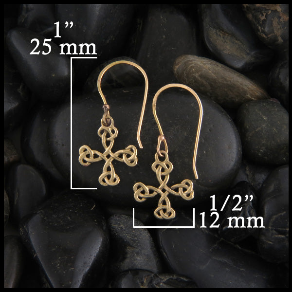 Celtic Cross earrings in gold